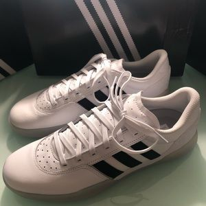 9.5,10,11,11.5,12 Adidas white leather clear sole